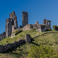 Buy canvas prints of Corfe Castle by colin chalkley