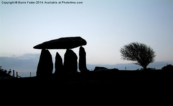 Pentre Ifan at Dawn Canvas print by Barrie Foster