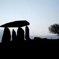 Buy canvas prints of Pentre Ifan at Dawn by Barrie Foster