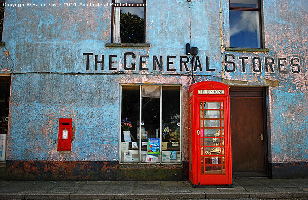 General Stores, North Pembrokeshire Canvas print by Barrie Foster