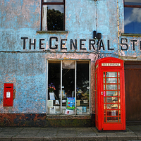 Buy canvas prints of General Stores, North Pembrokeshire by Barrie Foster