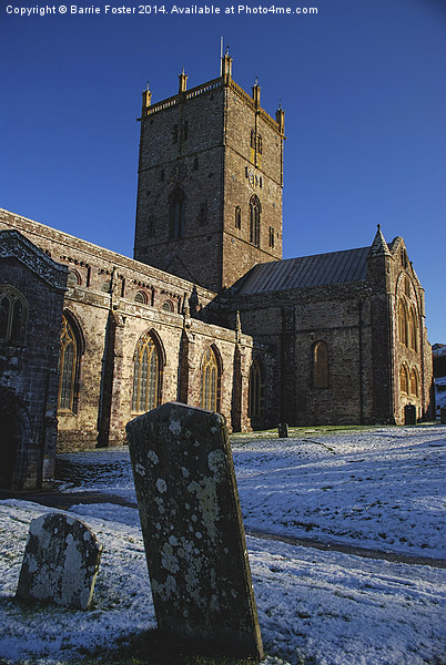 St Davids Cathedral Pembrokeshire Canvas print by Barrie Foster