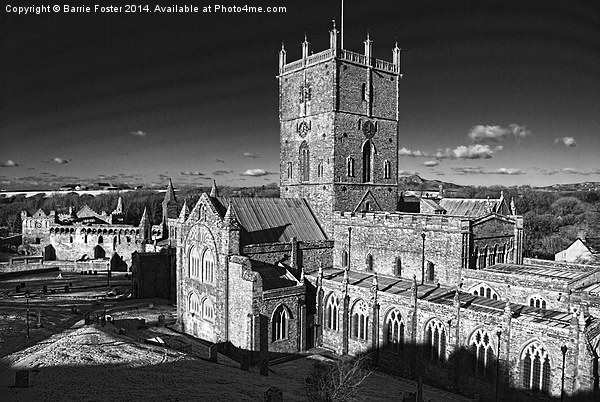St Davids Cathedral and Palace Canvas print by Barrie Foster