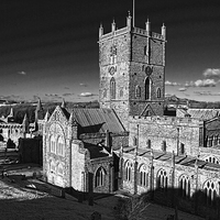 Buy canvas prints of St Davids Cathedral and Palace by Barrie Foster