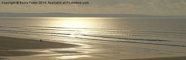 Newgale Winter Sun Canvas print by Barrie Foster