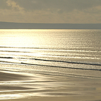 Buy canvas prints of Newgale Winter Sun by Barrie Foster