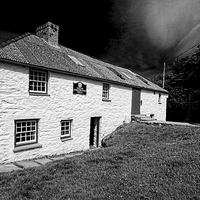 Buy canvas prints of Tregwynt Wollen Mill. by Barrie Foster