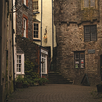Buy canvas prints of Tudor Merchants House Tenby by Barrie Foster