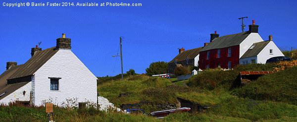 Abereiddy Cottages Canvas print by Barrie Foster