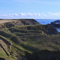 Buy canvas prints of  Ogof Castell Iron Age Fort by Barrie Foster
