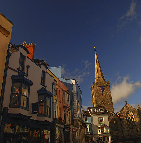 St Mary's Church, Tenby, Pembrokeshire Canvas print by Barrie Foster