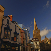 Buy canvas prints of  St Mary's Church, Tenby, Pembrokeshire by Barrie Foster