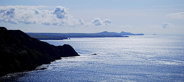 From Penbwchdy to St Davids Head Canvas print by Barrie Foster