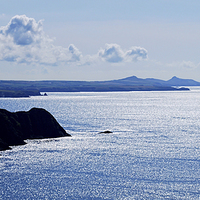 Buy canvas prints of  From Penbwchdy to St Davids Head by Barrie Foster