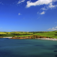 Buy canvas prints of  Abermawr and Aberbach by Barrie Foster