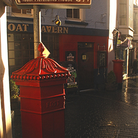 Buy canvas prints of  Frog Street, Tenby by Barrie Foster