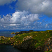 Buy canvas prints of  Pwllderi Youth Hostel, Strumble Head by Barrie Foster