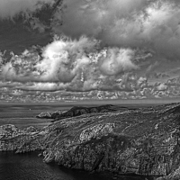 Buy canvas prints of  Pwllderi Youth Hostel, Mono by Barrie Foster