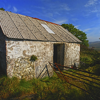 Buy canvas prints of  Wriggly Tin: Gwaun Valley Barn by Barrie Foster