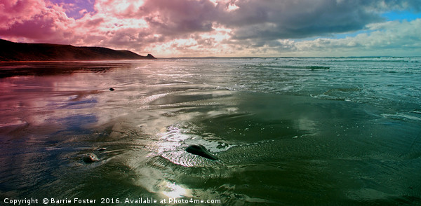 Newgale Moods #2 Canvas print by Barrie Foster