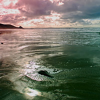 Buy canvas prints of Newgale Moods #2 by Barrie Foster