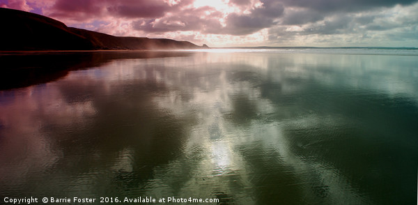Newgale Moods #3 Canvas print by Barrie Foster