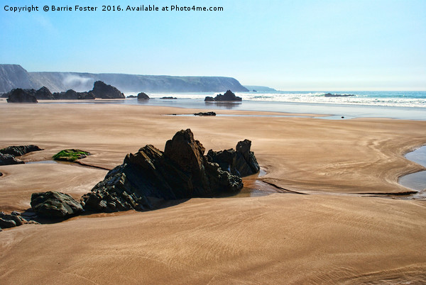 Marloes Sands Detail #1 Canvas print by Barrie Foster