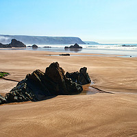Buy canvas prints of Marloes Sands Detail #1 by Barrie Foster
