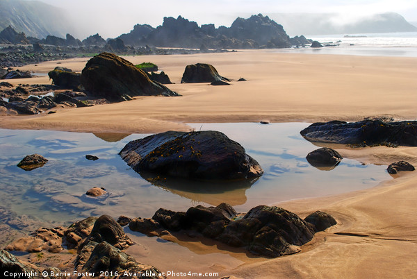 Marloes Sands Detail #2 Canvas print by Barrie Foster