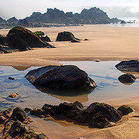 Buy canvas prints of Marloes Sands Detail #2 by Barrie Foster