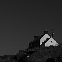 Buy canvas prints of Abereiddy Cottage by Barrie Foster