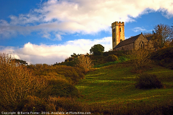 The Church of St James, Manorbier Canvas print by Barrie Foster