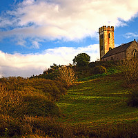 Buy canvas prints of The Church of St James, Manorbier by Barrie Foster
