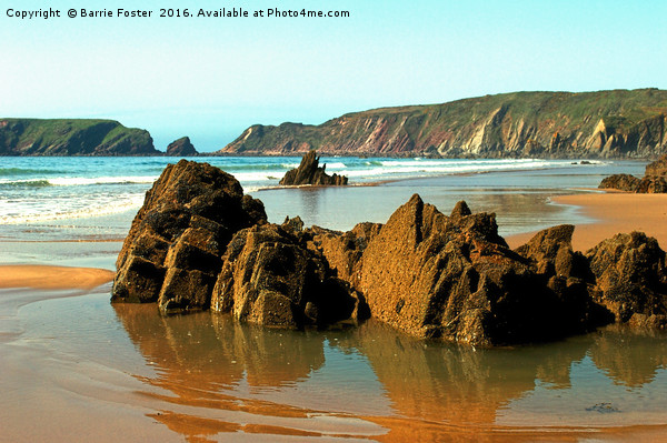 Marloes Sands Detail #3 Canvas Print by Barrie Foster