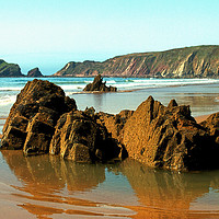 Buy canvas prints of Marloes Sands Detail #3 by Barrie Foster