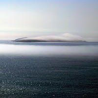 Buy canvas prints of Dream Island: Skokholm Mist by Barrie Foster
