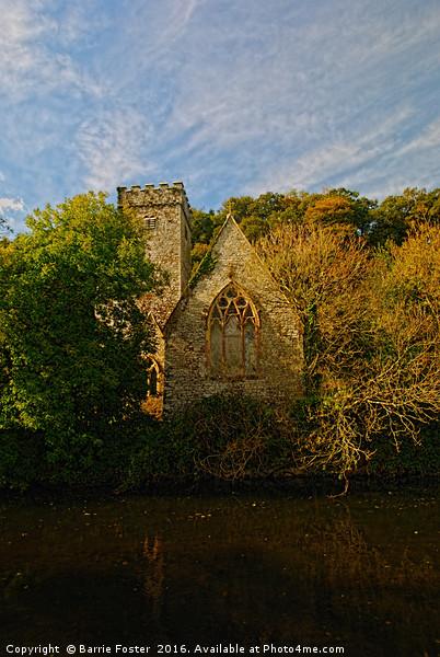 The Church of St Aidan, Llawhaden #2 Canvas print by Barrie Foster