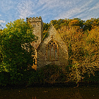 Buy canvas prints of The Church of St Aidan, Llawhaden #2 by Barrie Foster