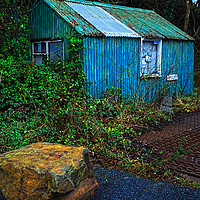 Buy canvas prints of Wriggly Tin: The Weighing Station, Middle Mill by Barrie Foster