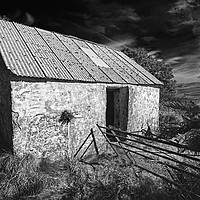 Buy canvas prints of WRIGGLY TIN: GWAUN VALLEY BARN, MONO by Barrie Foster