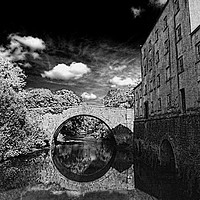 Buy canvas prints of Blackpool Mill, Blackpool Bridge & The Knights Way by Barrie Foster