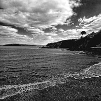 Buy canvas prints of The Beach at Cwm yr Eglwys by Barrie Foster