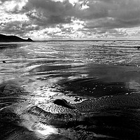 Buy canvas prints of Newgale Reflections by Barrie Foster