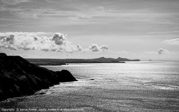 St Davids Head from above Pwllderi Framed Mounted Print by Barrie Foster