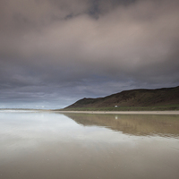 Buy canvas prints of Rhossili bay Gower by Leighton Collins