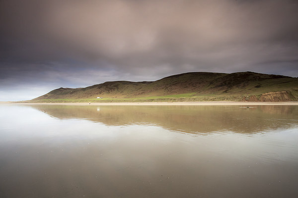 Rhossili downs, Gower Canvas print by Leighton Collins