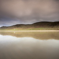 Buy canvas prints of Rhossili downs, Gower by Leighton Collins