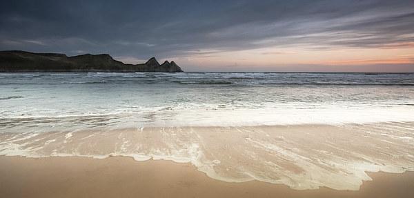 Three Cliffs Bay Gower Canvas print by Leighton Collins