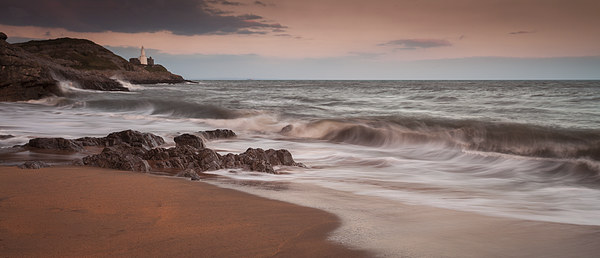 Bracelet Bay and Mumbles lighthouse Canvas print by Leighton Collins