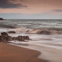 Buy canvas prints of  Bracelet Bay and Mumbles lighthouse by Leighton Collins
